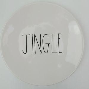 "Rae Dunn Jingle Plate 8"""